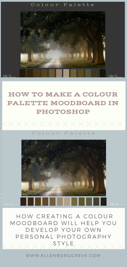 How to make a colour palette moodboard to help you develop your own personal photography style